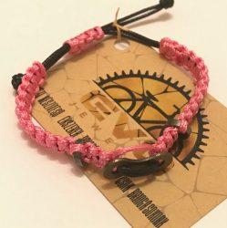 Női láncszemes karkötő rózsaszín
